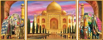 Taj Mahal Dreams - 1000pc Tryptichon Jigsaw Puzzle by Ravensburger