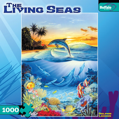 Dolphin Lagoon - 1000pc Jigsaw Puzzle by Buffalo Games