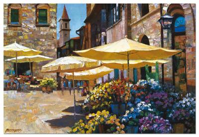 Howard Behrens: Sienna Flower Market - 3000pc Jigsaw Puzzle by EDUCA