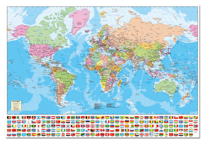 World Map - 1500pc Jigsaw Puzzle by Educa