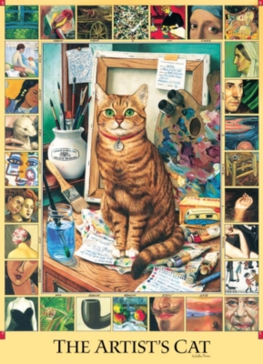 Cobble Hill Jigsaw Puzzles - The Artist's Cat