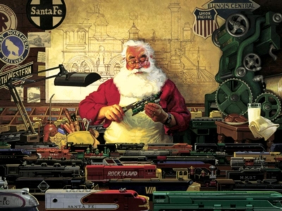 Cobble Hill Jigsaw Puzzles - Santa and his Trains