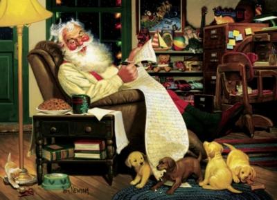 Cobble Hill Jigsaw Puzzles - Santa's Homework