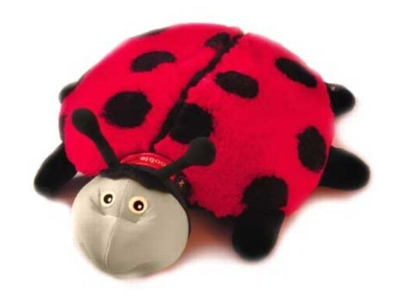 "Lilly (Plush / Pillow / Blanket) - 15"" Ladybug by Zoobie Pets"