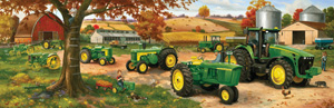 Legacy Of John Deere - 500pc Panoramic Jigsaw Puzzle by Great American Puzzle Factory
