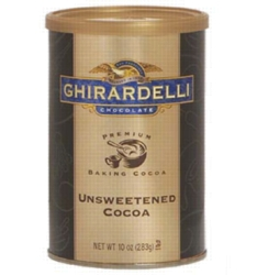 Ghirardelli Unsweetened Cocoa Powder - 10 oz. Can Case