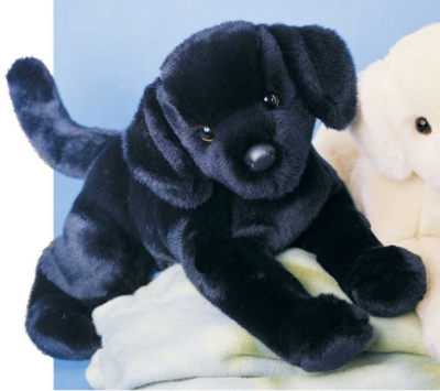 Chester Black Lab - 16'' Dog By Douglas Cuddle Toys