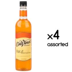 Davinci Fruit Innovations Flavored Syrups - 750 ml. Plastic Bottle Assorted Case