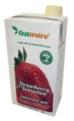 TeaWave Natural Fruit Smoothie - 33.8 oz. Carton Case