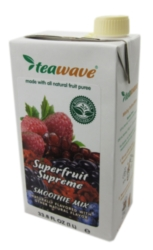 TeaWave Natural Fruit Smoothies: Superfruit Supreme - 33.8 oz. Carton Case