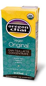 Oregon Chai Tea: Vegan - 32 oz. Carton