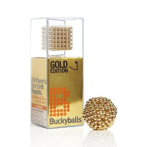 Bucky Balls Gold Edition - 216 Powerful Earth Magnets