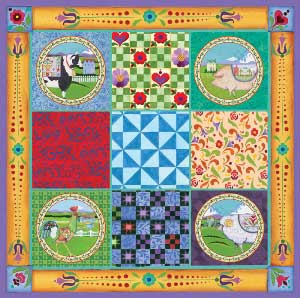 Farm Quilt - 750pc Jigsaw Puzzle by Great American Puzzle Factory