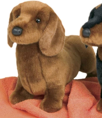 Johann Red Dachshund - 14'' Dog By Douglas Cuddle Toys