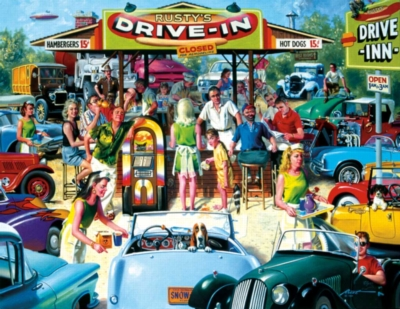 Large Format Jigsaw Puzzles - Rusty's Diner