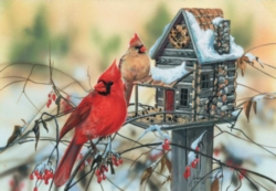 Jigsaw Puzzles - Cardinal's Rustic Retreat