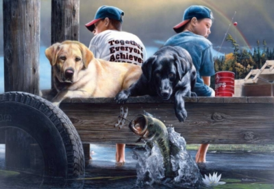 Who's Fishing - 500pc Jigsaw Puzzle by Sunsout