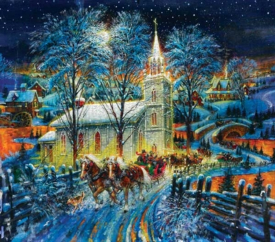 A Midnight Clear - 300pc Large Format Jigsaw Puzzle by Sunsout