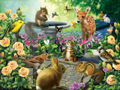 Harmony Garden - 550pc Jigsaw Puzzle by White Mountain