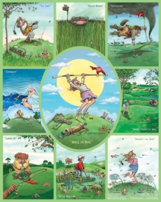 Golf Collage - 1000pc Jigsaw Puzzle by White Mountain