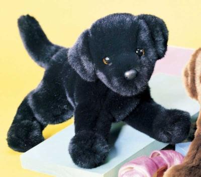 """Brewster Black Lab - 12"""" Dog by Douglas Cuddle Toys"""