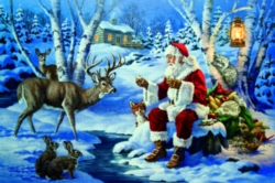 Serendipity Jigsaw Puzzles - Snack Time With Santa