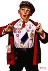 Serendipity Jigsaw Puzzles - Norman Rockwell: Boy Showing Off Badges