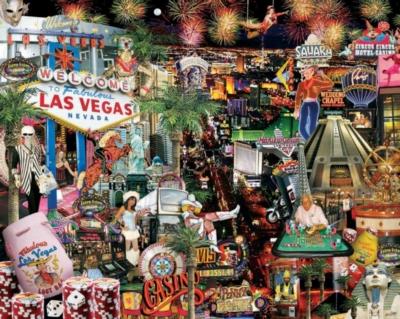 Viva Las Vegas! - 1000pc Jigsaw Puzzle by White Mountain