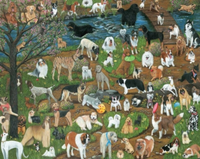 Who Let the Dogs Out - 1000pc Jigsaw Puzzle by White Mountain
