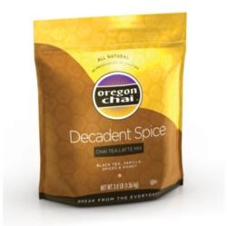 Oregon Chai Tea Mix: Decadent Spiced - 3 lb Bulk Bag Case