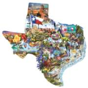 Shaped Jigsaw Puzzles - Welcome to Texas