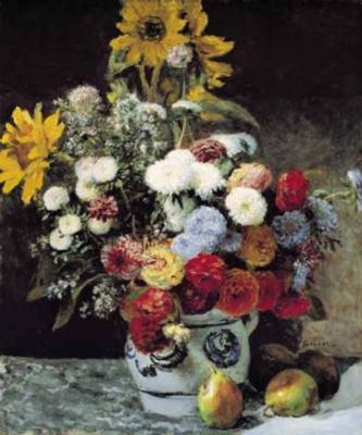 Pierre-Auguste Renoir: Fleurs Dans Un Vase - 1500pc Jigsaw Puzzle by Ricordi