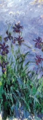 Claude Monet: Iris Mauves - 1000pc Vertical Panoramic Jigsaw Puzzle by Ricordi