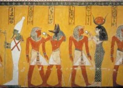Egyptian Art Divinita Nel Vestibolo - 1000pc Jigsaw Puzzle by Ricordi