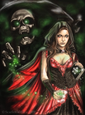 Scarlet Gothica: Absinthe - 1000pc Jigsaw Puzzle by Ricordi