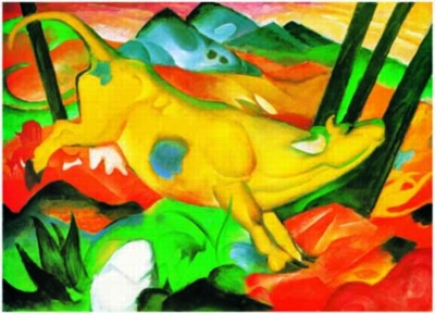 Franz Marc: The Yellow Cow - 1000pc Jigsaw Puzzle by Ricordi