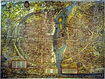 Oliver Truschet: Map Of Paris - 1500pc Jigsaw Puzzle by Ricordi