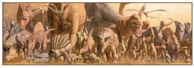 Dinosaurs Jigsaw Puzzles for Kids - Dinosaurs Panoramic