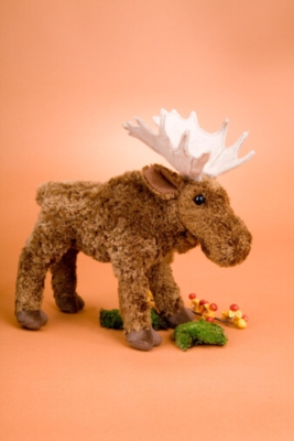 """Watcher Standing Moose - 9"""" Moose By Douglas Cuddle Toy"""