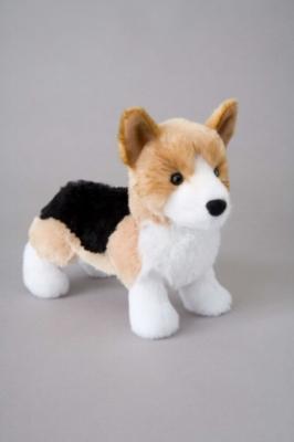 "Shorty Tri-Color Corgi - 8"" Dog By Douglas Cuddle Toy"