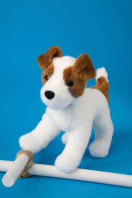"""Feisty Jack Russell - 7"""" Dog By Douglas Cuddle Toy"""