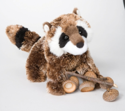 """Patch Raccoon - 7"""" Raccoon By Douglas Cuddle Toy"""