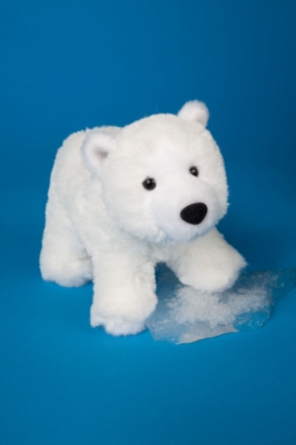 "Whitey Polar Bear - 8"" Bear By Douglas Cuddle Toy"