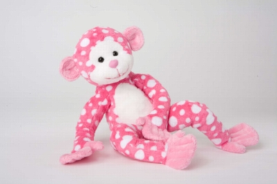 "Ida Pink Dot Monkey - 11"" Monkey By Douglas Cuddle Toy"