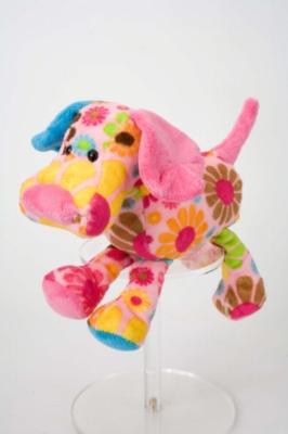 "Thelma Pink Flower Dog - 9"" Dog By Douglas Cuddle"