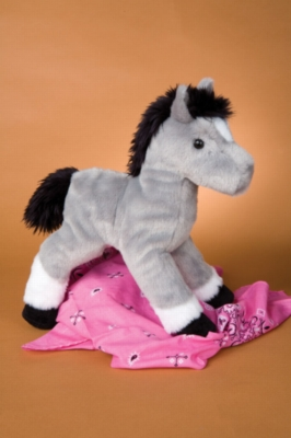 "Gazelle Gray Horse - 10.5"" Horse By Douglas Cuddle Toy"