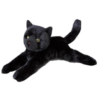 "Tug Black Cat - 14"" Cat By Douglas Cuddle Toy"