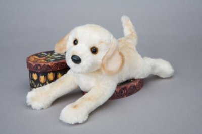 "Almond Yellow Lab - 13"" Dog By Douglas Cuddle Toy"