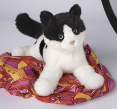Veronica Black and White - 12'' Cat By Douglas Cuddle Toys