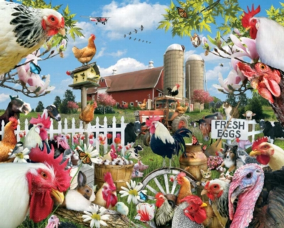Spring Chickens - 1000pc Jigsaw Puzzle by White Mountain